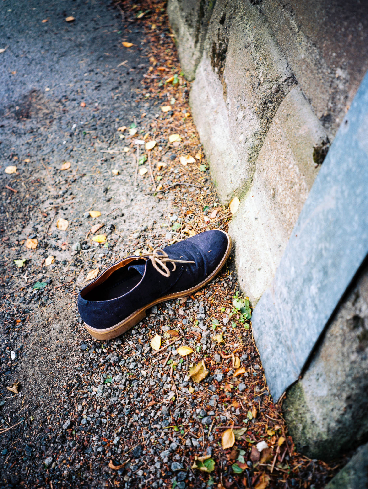 Wednesday 14.9.2016. Forgotten or dumped shoe on sidewalk. Where is the other one? Where is the owner?